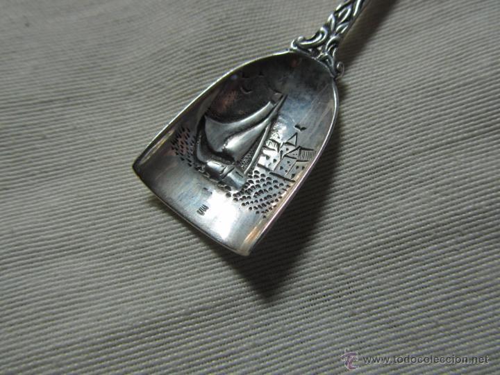 Antigüedades: Cuchara cucharilla de plata - Foto 2 - 47963300