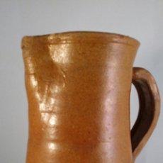 Antigüedades: ANTIGUA JARRA DE BARRO DE UN LITRO APROXIMÁDAMENTE. Lote 47964760