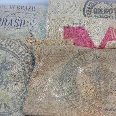 Antigüedades: LOTE 5 SACOS ARPILLERA VARIAS CASAS COMERCIALES. + OBSEQUIO OTRO SACO. VER. Lote 47969421