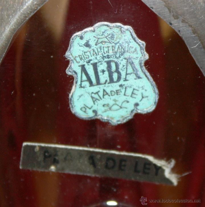 Antigüedades: JARRÓN EN CRISTAL Y DECORACIONES BAÑADAS EN PLATA. CIRCA 1950 - Foto 3 - 47970211