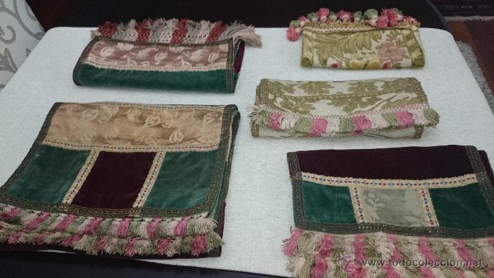 cinco caminos de mesa camino tapete brocados seda terciopelo pasamanera - Caminos De Mesa