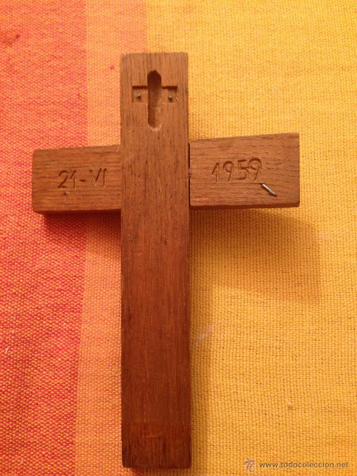 Antigüedades: ANTIGUO CRUCIFIJO CRUZ JESUCRISTO INRI 1959 CRISTO - Foto 3 - 47981746