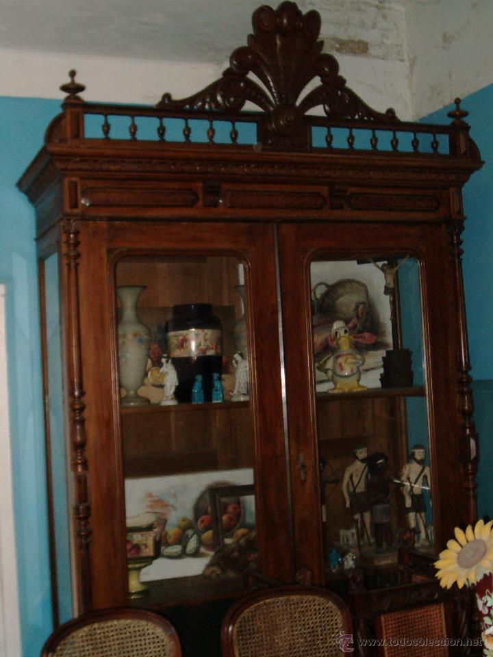 VITRINA COLONIAL CEDRO (Antigüedades - Muebles Antiguos - Vitrinas Antiguos)