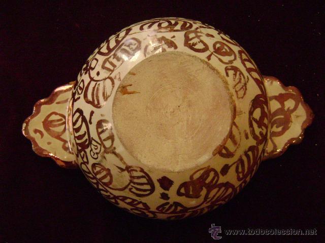 Antigüedades: MANISES.ESCUDILLA EN REFLEJO METALICO - Foto 2 - 27296856