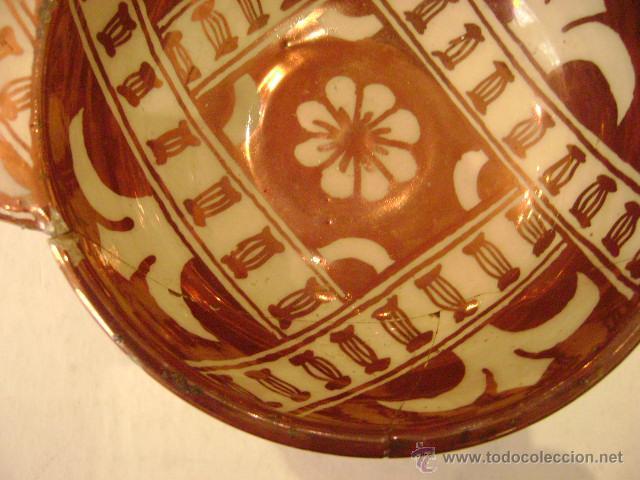 Antigüedades: MANISES.ESCUDILLA EN REFLEJO METALICO - Foto 4 - 27296856