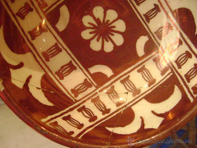 Antigüedades: MANISES.ESCUDILLA EN REFLEJO METALICO - Foto 5 - 27296856
