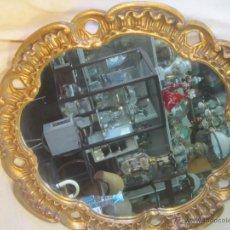 Antigüedades: ESPEJO EN MADERA CON PAN DE ORO. Lote 47988617