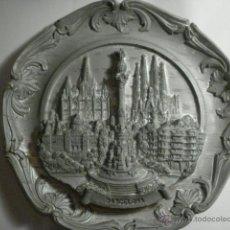 Antigüedades: ESPAÑA BONITO PLATO DECORATIVO EN RELIEVE DE BARCELONA. Lote 47994860