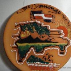 Antigüedades: REPUBLICA DOMINICANA BONITO PLATO DECORATIVO SANTO DOMINGO - MIRA OTROS EN VENTA. Lote 47994888