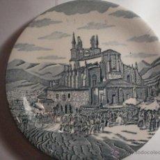Antigüedades: ESPAÑA BONITO PLATO DECORATIVO RECUERDO DE BEGOÑA VIZCAYA AURRESKU - MIRA OTROS EN VENTA. Lote 47994908