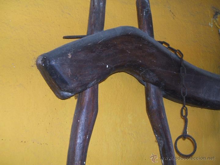 Antigüedades: ANTIGUO YUGO MADERA PARA BUEYES. 1,18 LARGO. - Foto 6 - 48002777