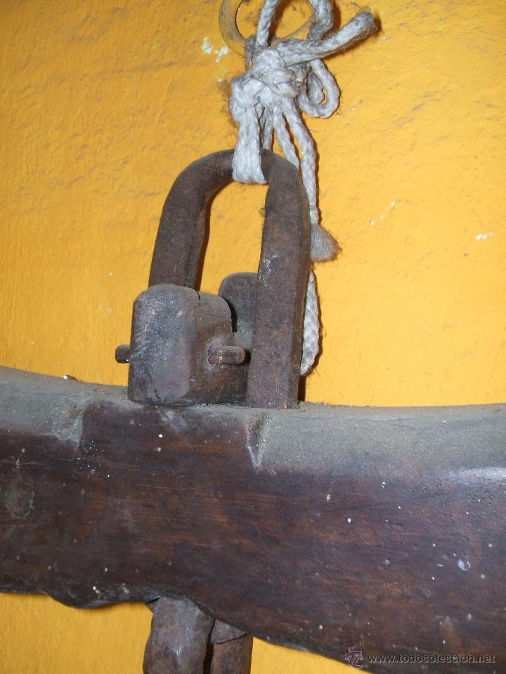 Antigüedades: ANTIGUO YUGO MADERA PARA BUEYES. 1,18 LARGO. - Foto 9 - 48002777