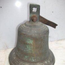 Antigüedades: LOCOMOTORA DE VAPOR. ANTIGUA CAMPANA DE DOMO. FERROCARRIL TREN RENFE. Lote 48097233