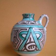 Antigüedades: JARRITA ESFEROIDAL ZOOMORFA , ESTILO MOZÁRABE. TERUEL . FIRMADA PUNTER. MEDIADOS SIGLO XX.. Lote 48128717