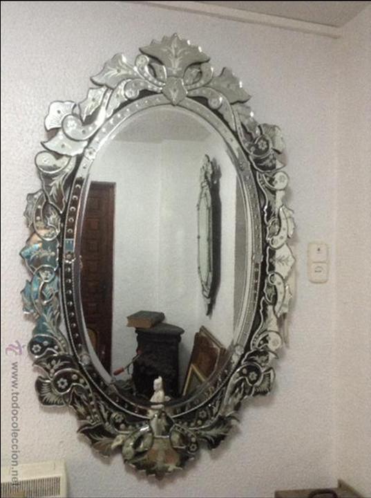 Espejo veneciano antiguo ovalado comprar espejos - Espejos antiguos de pared ...