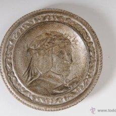 Antigüedades: PLACA EN ALUMINIO, DANTE ALIGHERI. Lote 48158428