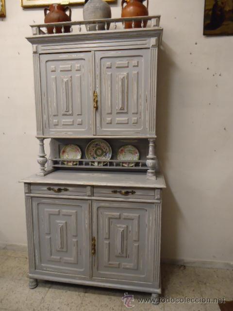 Aparador alfonsino restaurado a la tecnica deca comprar - Muebles antiguos restaurados ...