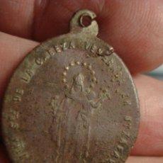 Antigüedades: ESPAÑA RARA MEDALLA VIRGEN DE LA CABEZA UTXAFAVA URGELL LLEIDA - SIGLO XIX MIRA OTRAS EN VENTA. Lote 48166830