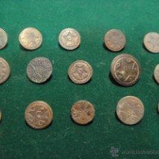 Antigüedades: LOTE DE 15 BOTONES ANTIGUOS. Lote 48199945