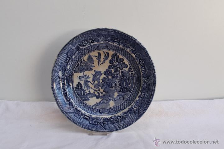 Plato de ceramica portuguesa sacavem siglo xix comprar Ceramica portuguesa online