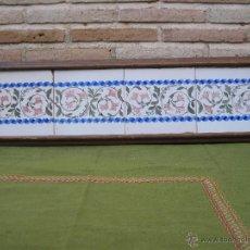 Antigüedades: LOTE DE 4 AZULEJOS ANTIGUOS DE MANISES - ENMARCADOS - SIGLO XIX-XX. AZULEJO.. Lote 48208257