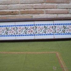 Antigüedades: LOTE DE CUATRO AZULEJOS ANTIGUOS DE MANISES - ENMARCADOS - AZULEJO.. Lote 48209073