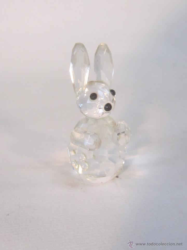 FIGURA DE CONEJO EN CRISTAL SWAROVSKY (Antigüedades - Cristal y Vidrio - Swarovski)