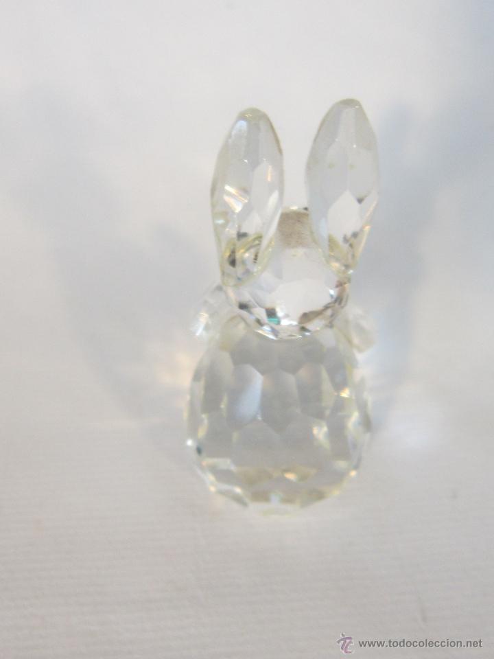 Antigüedades: figura de conejo en cristal swarovsky - Foto 2 - 48209153
