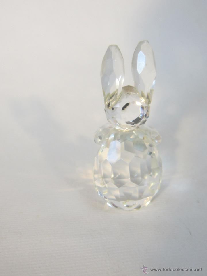 Antigüedades: figura de conejo en cristal swarovsky - Foto 3 - 48209153