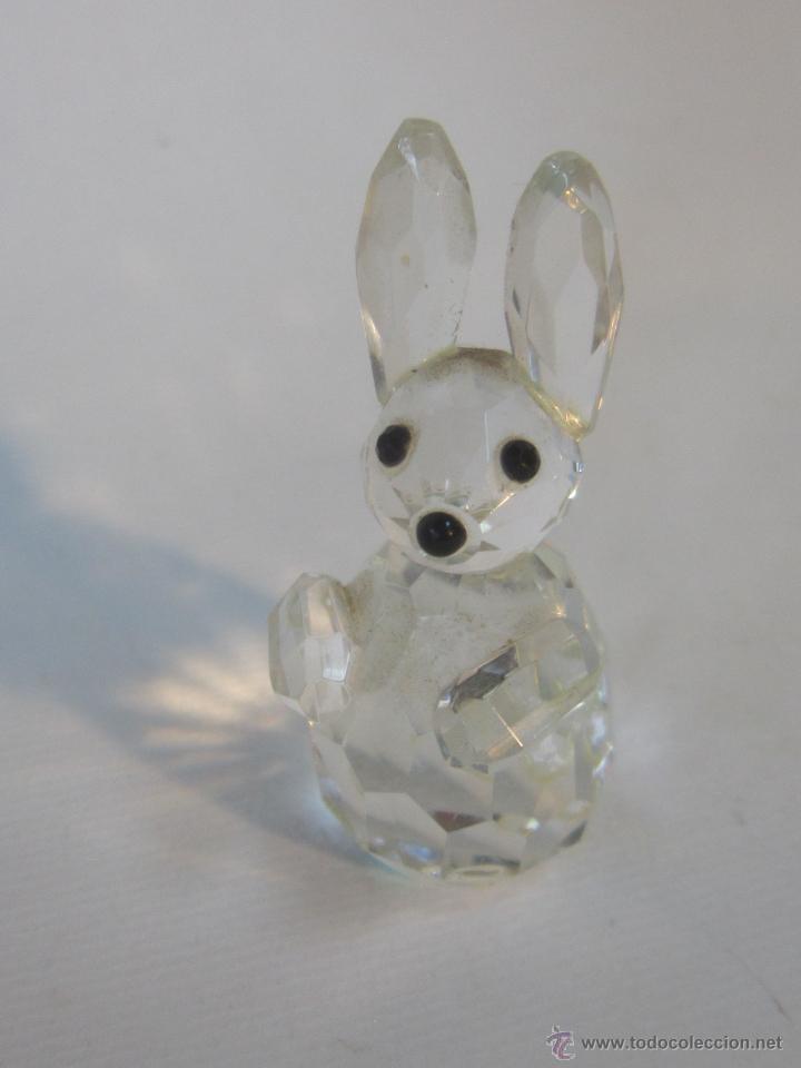 Antigüedades: figura de conejo en cristal swarovsky - Foto 4 - 48209153