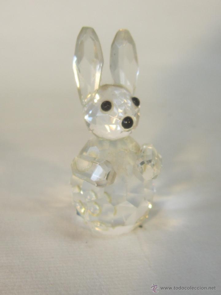 Antigüedades: figura de conejo en cristal swarovsky - Foto 5 - 48209153