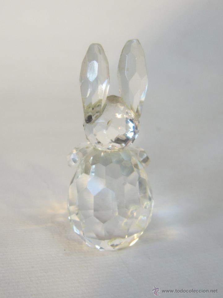 Antigüedades: figura de conejo en cristal swarovsky - Foto 6 - 48209153