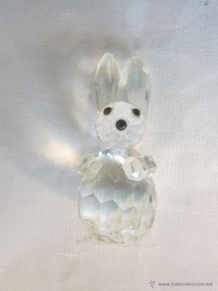 Antigüedades: figura de conejo en cristal swarovsky - Foto 7 - 48209153