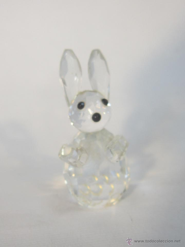 Antigüedades: figura de conejo en cristal swarovsky - Foto 8 - 48209153