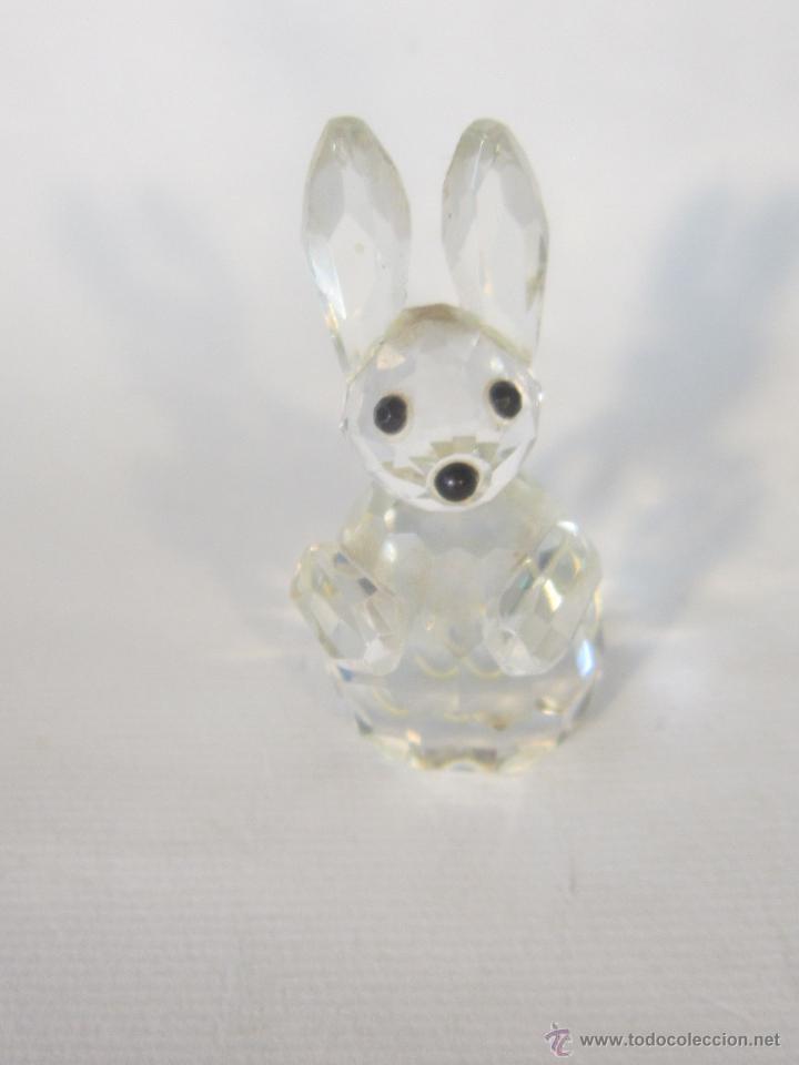 Antigüedades: figura de conejo en cristal swarovsky - Foto 9 - 48209153
