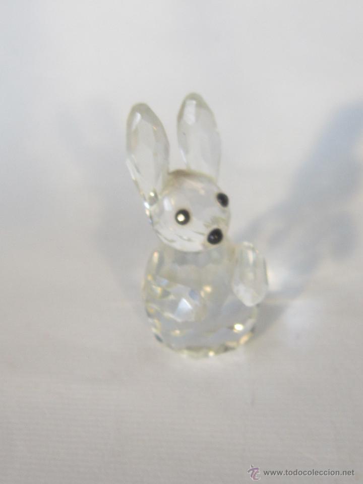 Antigüedades: figura de conejo en cristal swarovsky - Foto 10 - 48209153