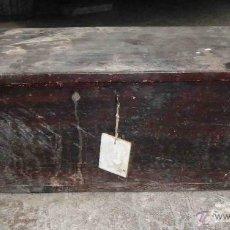 Antigüedades: BAUL DE MADERA 71 CM DE LARGO. Lote 48214350