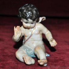 Antigüedades: ANGELITO EN PORCELANA DE ALGORA. PRIMERA MITAD DEL SIGLO XX. Lote 48242875