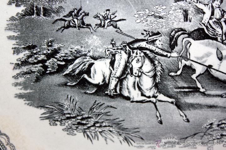 Antigüedades: BANDEJA OCTOGONAL EN LOZA DEL SIGLO XIX. DE CARTAGENA FABRICA DE LA AMISTAD. SELLADA - Foto 2 - 48247019