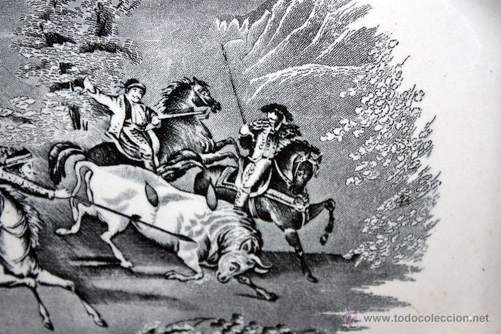 Antigüedades: BANDEJA OCTOGONAL EN LOZA DEL SIGLO XIX. DE CARTAGENA FABRICA DE LA AMISTAD. SELLADA - Foto 3 - 48247019