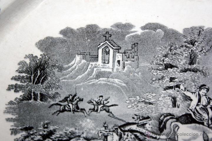 Antigüedades: BANDEJA OCTOGONAL EN LOZA DEL SIGLO XIX. DE CARTAGENA FABRICA DE LA AMISTAD. SELLADA - Foto 4 - 48247019