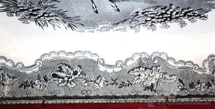 Antigüedades: BANDEJA OCTOGONAL EN LOZA DEL SIGLO XIX. DE CARTAGENA FABRICA DE LA AMISTAD. SELLADA - Foto 5 - 48247019