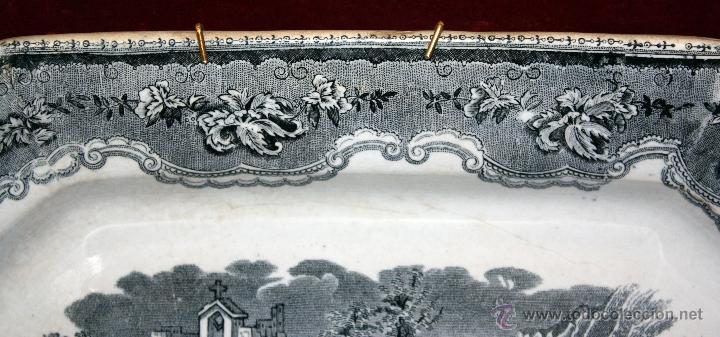 Antigüedades: BANDEJA OCTOGONAL EN LOZA DEL SIGLO XIX. DE CARTAGENA FABRICA DE LA AMISTAD. SELLADA - Foto 6 - 48247019