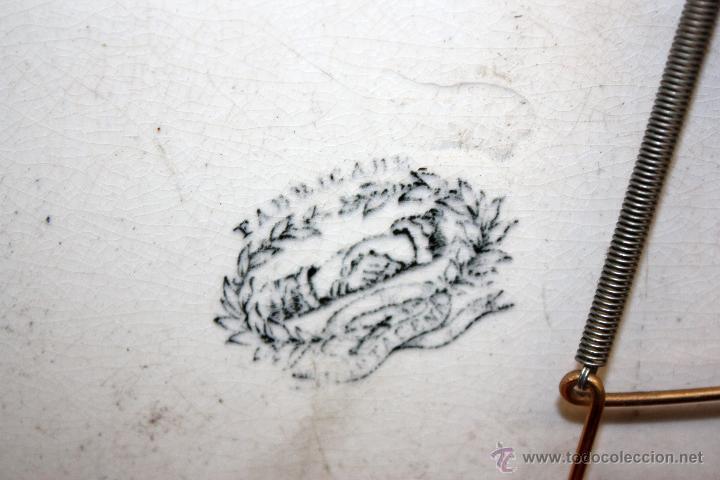 Antigüedades: BANDEJA OCTOGONAL EN LOZA DEL SIGLO XIX. DE CARTAGENA FABRICA DE LA AMISTAD. SELLADA - Foto 8 - 48247019