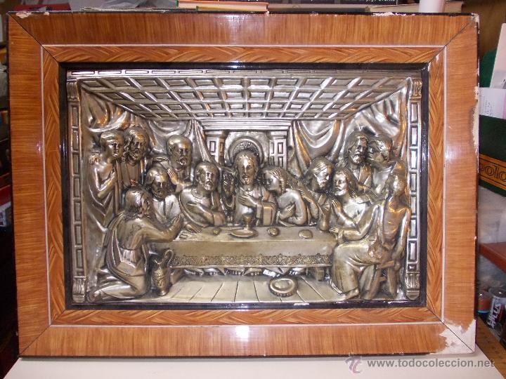 antigua sagrada cena en relieve, marco en mal e - Comprar ...