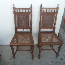 Antigüedades: PAREJAS DE SILLAS ANTIGUAS. Lote 48281354
