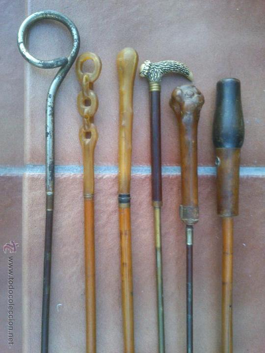 COLECCION DE ANTIGUOS MANGOS DE SOMBRILLA DISTINTOS MATERIALES. (Antigüedades - Moda y Complementos - Mujer)