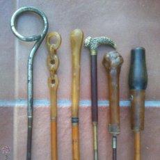Antigüedades: COLECCION DE ANTIGUOS MANGOS DE SOMBRILLA DISTINTOS MATERIALES.. Lote 48286260