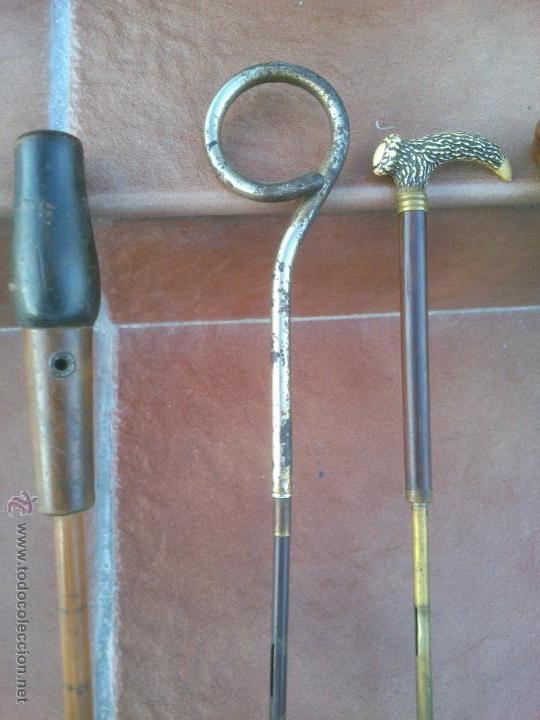 Antigüedades: COLECCION DE ANTIGUOS MANGOS DE SOMBRILLA DISTINTOS MATERIALES. - Foto 4 - 48286260