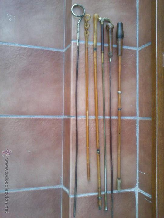 Antigüedades: COLECCION DE ANTIGUOS MANGOS DE SOMBRILLA DISTINTOS MATERIALES. - Foto 9 - 48286260